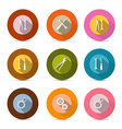 Circle Tools Icons Isolated on White Background vector image vector image