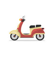 classic retro scooter isolated icon vector image vector image