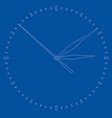clock face perspective view vector image vector image