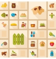 Colorful Farm Garden flat icon with long shadow vector image vector image