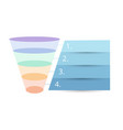 colorful sales funnel vector image vector image
