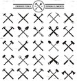 Crossed Tools Design Elements vector image