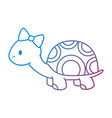 cute female turtle character icon vector image vector image