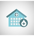 donation concept hospital building icon vector image