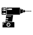 drill icon simple black style vector image