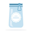 empty glass jar with lid on lock flat isolated vector image vector image