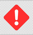 exclamation mark icon in flat style danger alarm vector image vector image