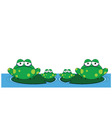 family of frogs vector image vector image