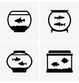 Fish in aquarium vector image vector image