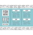 fish menu of the restaurant vector image