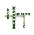 florida group health insurance text background vector image vector image