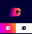 g letter winds movement dynamic logo velocity deli vector image vector image