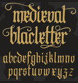 gothic alphabet lowercase calligraphic letters vector image