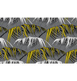 grey tropical prints in monochromes with banana vector image vector image