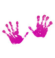 hand paint print set isolated white background vector image vector image