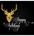 Happy holidays greeting card with deer vector image vector image