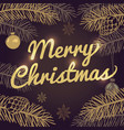 happy merry christmas holiday greeting card vector image vector image
