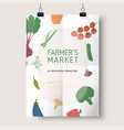 harvest festival or farmers market flyer poster vector image