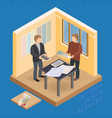 home repair isometric template designer and vector image