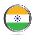 India flag button vector image vector image