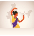 Indian girl wearing traditional clothing dancing vector image vector image