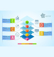 infographic business chart vector image