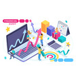isometric concept of audit accounting vector image