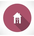 key in the house icon vector image vector image