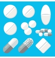 Medical Pills Icons Set vector image