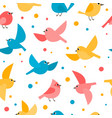 pattern with colorful flying birds isolated on vector image