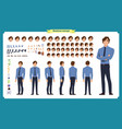 people character business set vector image