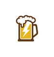 power beer logo icon design vector image vector image