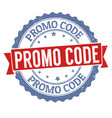 promo code sign or stamp vector image vector image