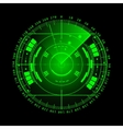 Radar screen for your design vector image