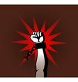 revolution fist vector image vector image