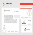 snowman business letterhead envelope and visiting vector image vector image