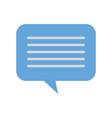 speech bubble message chat dialog media vector image