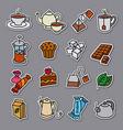 tea stickers vector image