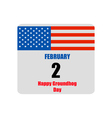 template calendar for groundhog day vector image vector image