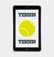 tennis sport vector image vector image