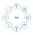 tie icons vector image vector image