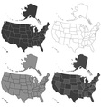 USA map set vector image vector image