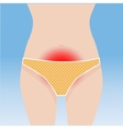 Woman abdominal pain vector image