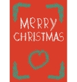 xmas card christmas greeting vector image vector image