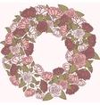Romantic flower wreath wreath of roses vector image