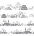 skyline town vector image