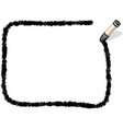 a black crayon message frame vector image