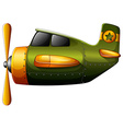 A green vintage plane vector image vector image