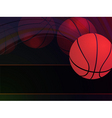 abstract basketball background vector image vector image