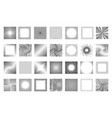 abstract design geometrical grid line dots cut vector image